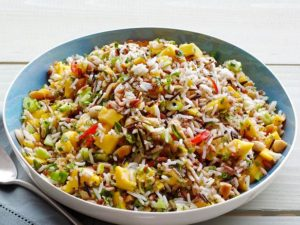 Brown Rice with Mango Cucumber Salad