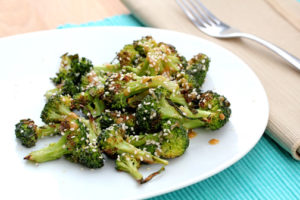 Roasted Broccoli with Sesame Seeds