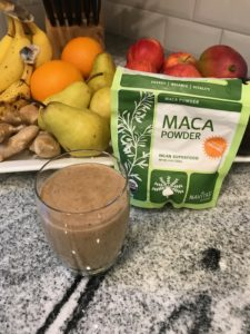 Peanut Butter Maca Banana Smoothie