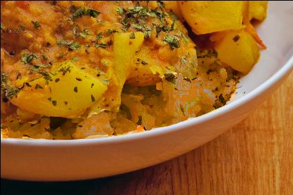 Potato Curry & Lentils